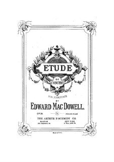 Etude de concert, Op.36: Para Piano by Edward MacDowell