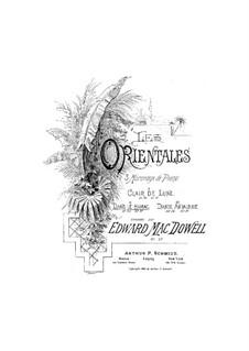 Les Orientales, Op.37: set completo by Edward MacDowell