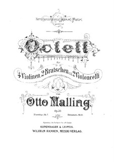 String Octet, Op.50: Partitura completa, partes by Otto Malling