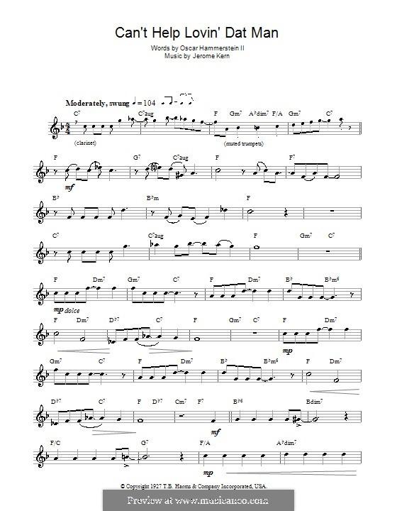 Can't Help Lovin' Dat Man (from Show Boat): para flauta by Jerome Kern