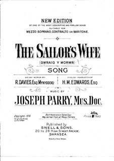 The Sailor's Wife: The Sailor's Wife by Joseph Parry