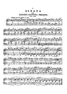 Sonata in C Minor: Sonata in C Minor by Giovanni Battista Pescetti
