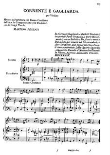 Corrente e Gagliarda: For violin and basso continuo by Martino Pesenti