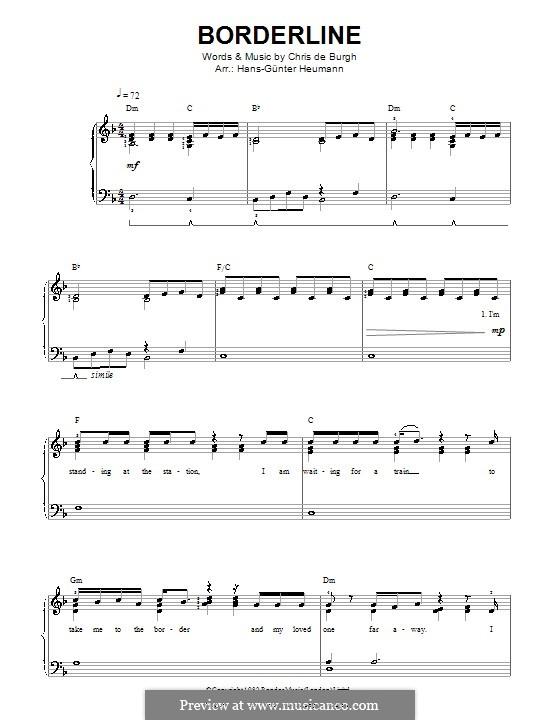 Borderline: Para vocais e piano by Chris de Burgh