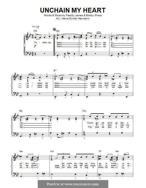 Unchain My Heart (Ray Charles): Para vocais e piano by Bobby Sharp, Teddy Powell