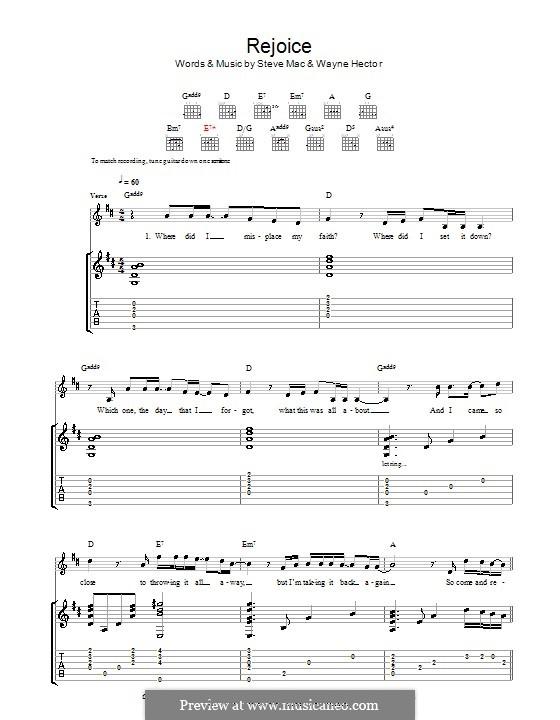 Rejoice: melodía,letras e acordes by Steve Mac, Wayne Anthony Hector