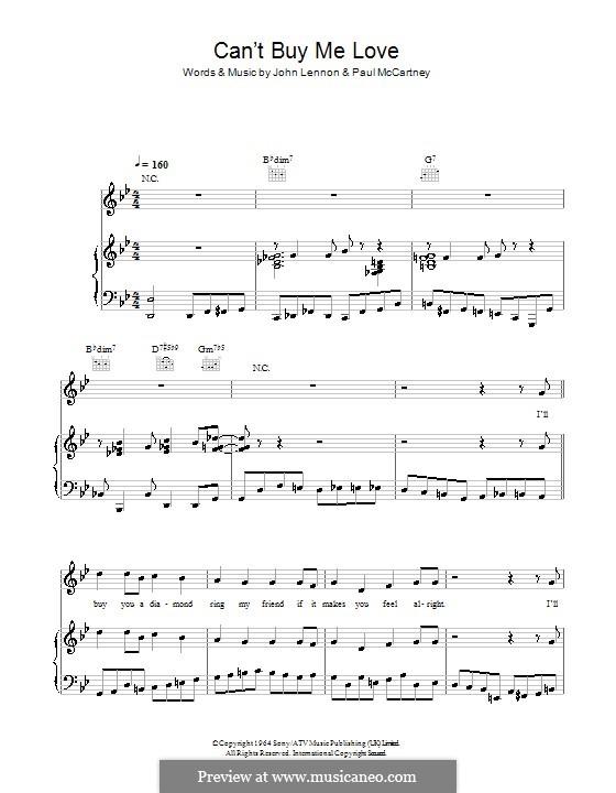 Piano-vocal version: Para vocais e piano (ou Guitarra) by John Lennon, Paul McCartney