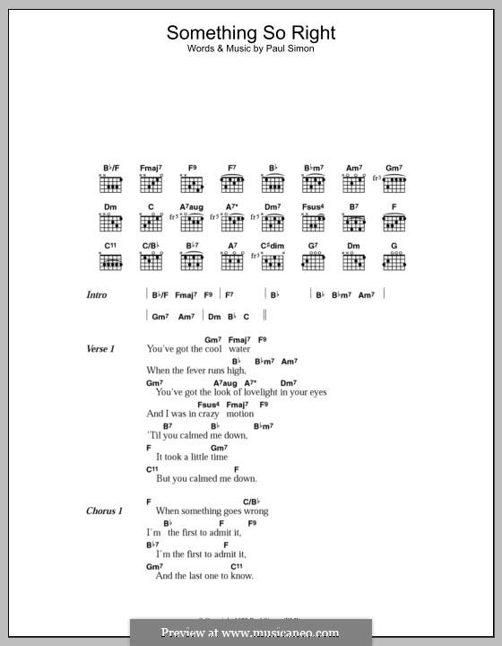 Something So Right: Letras e Acordes by Paul Simon