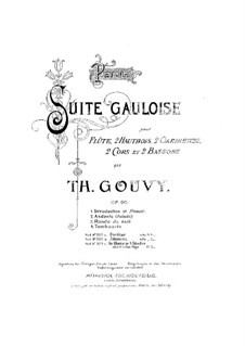 Petite Suite Gauloise, Op.90: para piano de quadro mãos by Louis Théodore Gouvy