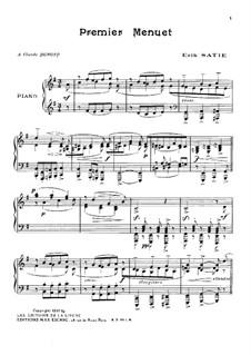 Minuet No.1: minueto No 1 by Erik Satie