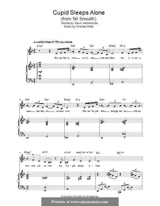 Cupid Sleeps Alone (from Mr Smooth): Para vocais e piano by Charles Miller