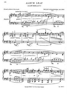 Album Leaf in F Sharp Minor, Op.27: Album Leaf in F Sharp Minor by Philipp Scharwenka