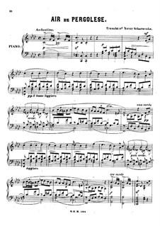 Tre giorni son che Nina: Para Piano by Giovanni Battista Pergolesi