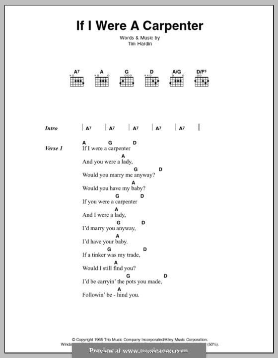 If I Were a Carpenter: Letras e Acordes by Tim Hardin