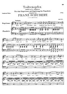 Todtenopfer, D.101: E minor by Franz Schubert