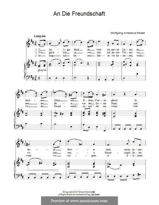 Lobegesang auf die feierliche Johannisloge, K.148 (125h): Für Stimme und Klavier by Wolfgang Amadeus Mozart