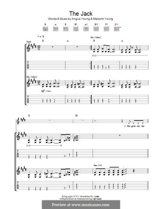 The Jack (AC/DC): Para guitarra com guia by Angus Young, Malcolm Young, Ronald Scott