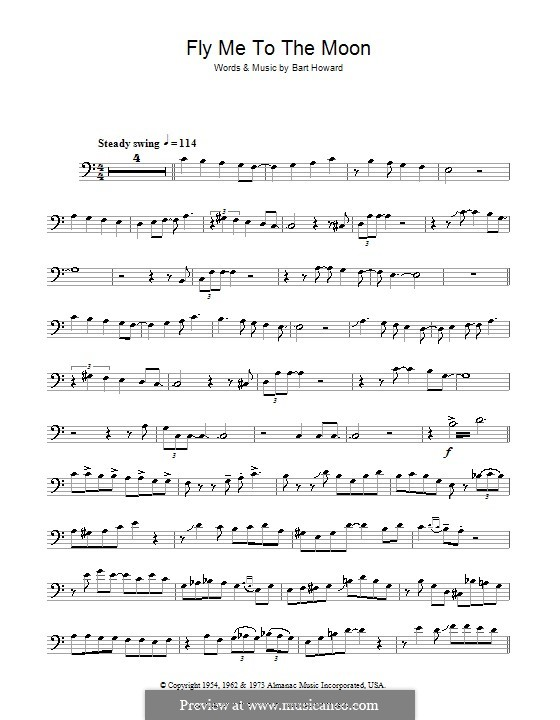 Fly Me to the Moon (In Other Words): For trombone (Julie London) by Bart Howard