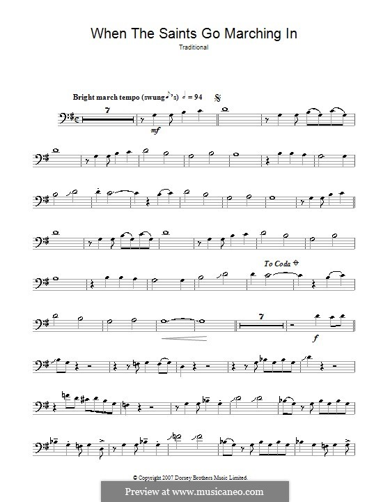 When the Saints Go Marching in: para trombone by folklore