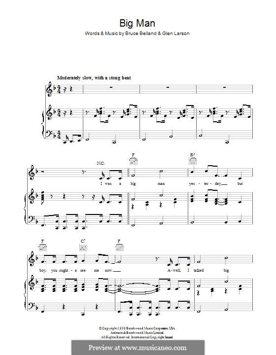 Big Man (The Four Preps): Para vocais e piano (ou Guitarra) by Bruce Belland, Glen Larson