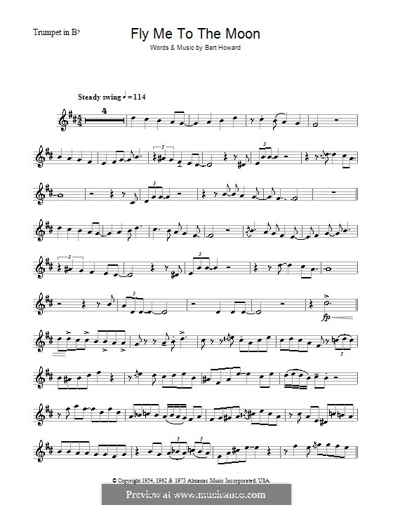 Fly Me to the Moon (In Other Words): For trumpet (Julie London) by Bart Howard