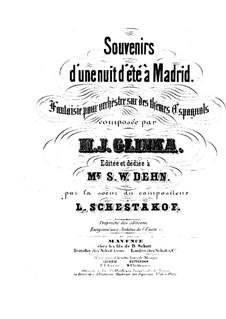Summer Night in Madrid: partitura completa by Mikhail Glinka