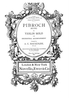 Pibroch. Suite for Violin and Piano, Op.42: Pibroch. Suite for Violin and Piano by Alexander Mackenzie