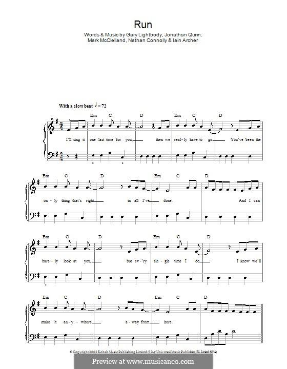 Run: Facil para o piano by Gary Lightbody, Iain Archer, Jonathan Quinn, Mark McClelland, Nathan Connolly