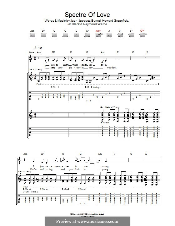 The Spectre of Love (The Stranglers): Para guitarra com guia by Howard Greenfield, Jean-Jacques Burnel, Jet Black, Raymond Warne