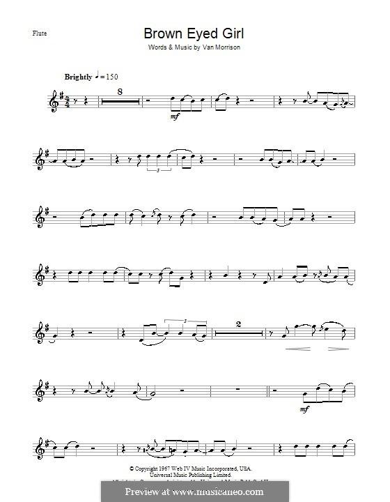 Brown Eyed Girl: para flauta by Van Morrison