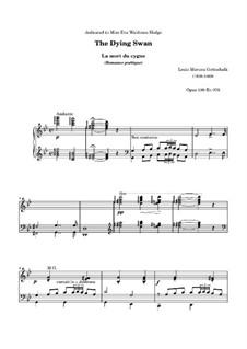 The Dying Swan. Poetic Romance, Op.100: Para Piano by Louis Moreau Gottschalk