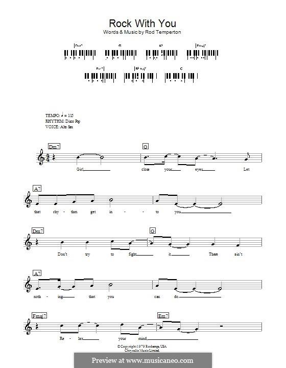 Rock with You (Michael Jackson): para teclado by Rod Temperton