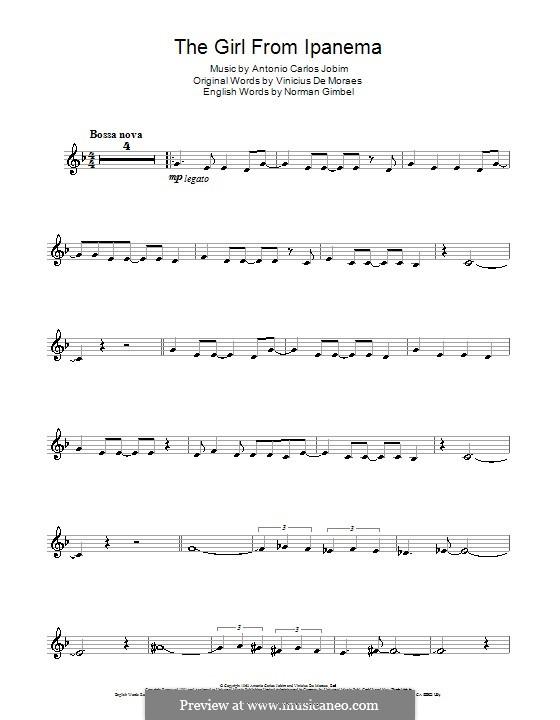 The Girl from Ipanema (Garota de Ipanema): para clarinete by Antonio Carlos Jobim