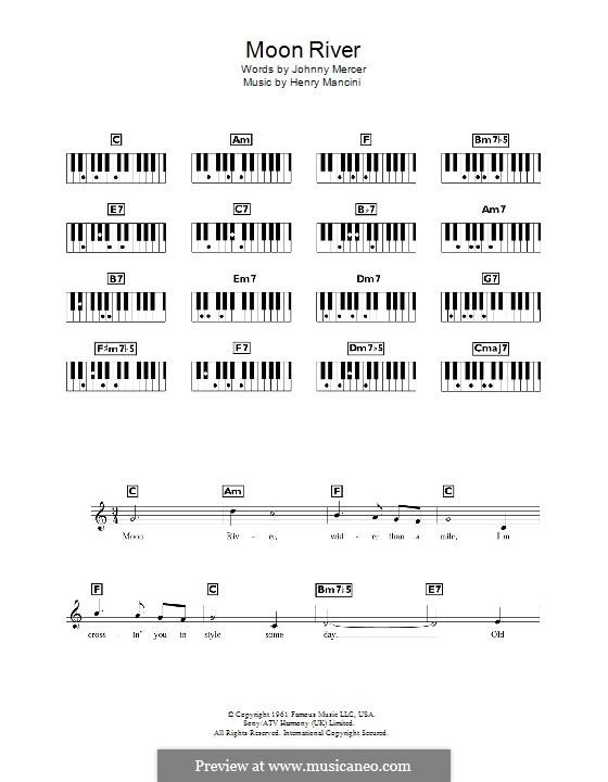 Moon River (from Breakfast at Tiffany's): para teclado by Henry Mancini