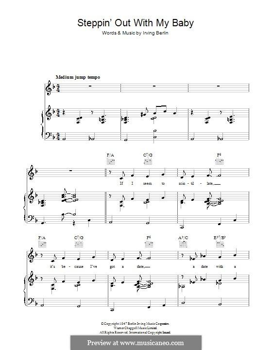 Steppin' Out with My Baby: Para vocais e piano (ou Guitarra) by Irving Berlin