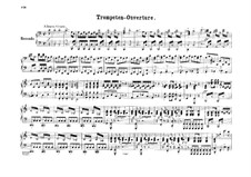 Trompeten-Ouvertüre (Trumpet Overture), Op.101: versão para piano de quatro mãos by Felix Mendelssohn-Bartholdy