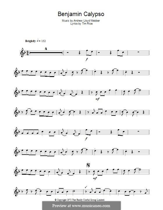 Benjamin Calypso: para flauta by Andrew Lloyd Webber