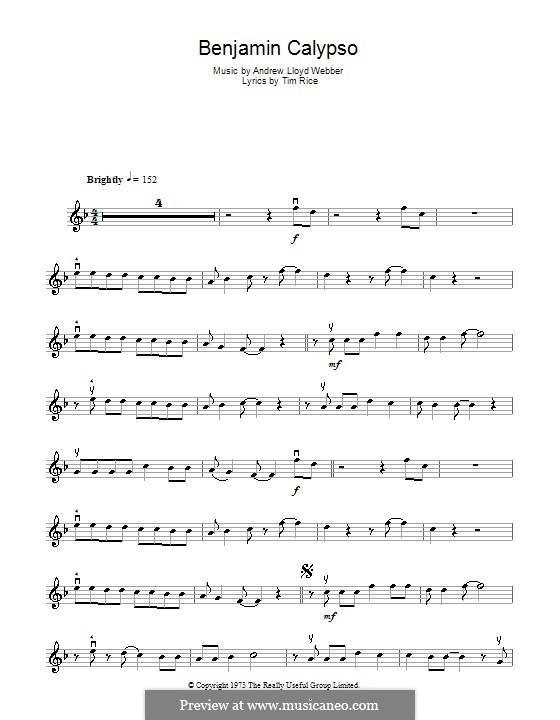 Benjamin Calypso: para violino by Andrew Lloyd Webber