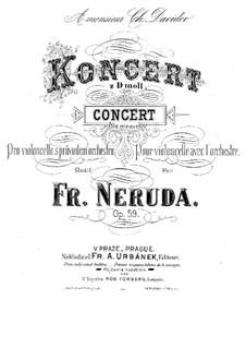 Cello Concerto No.2 in D Minor, Op.59: Partituras para violoncelo e piano by Franz Neruda