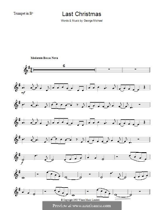 Last Christmas (Wham!): para trompeta by George Michael
