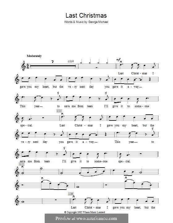 Last Christmas (Wham!): para violino by George Michael