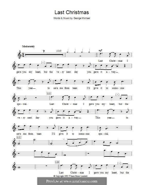 Last Christmas (Wham!): para gravar by George Michael