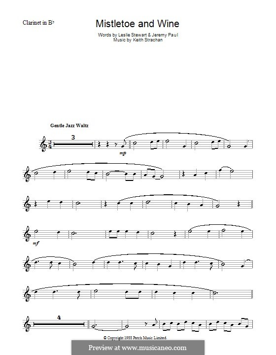 Mistletoe and Wine (Cliff Richard): para clarinete by Keith Strachan