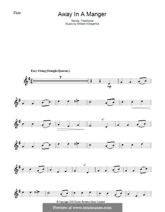 Away in a Manger: para flauta by William (James) Kirkpatrick