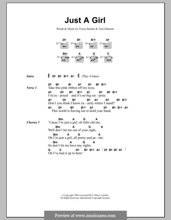 Just a Girl (No Doubt): Letras e Acordes by Gwen Stefani, Thomas Dumont