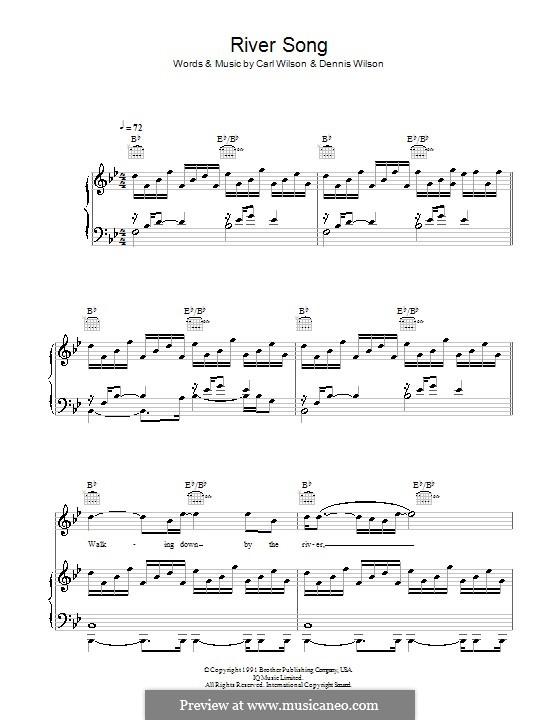 River Song: Para vocais e piano (ou Guitarra) by Carl Wilson, Dennis Wilson