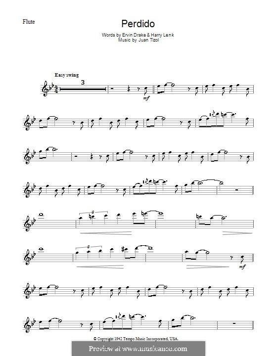 Perdido (Duke Ellington): para flauta by Juan Tizol