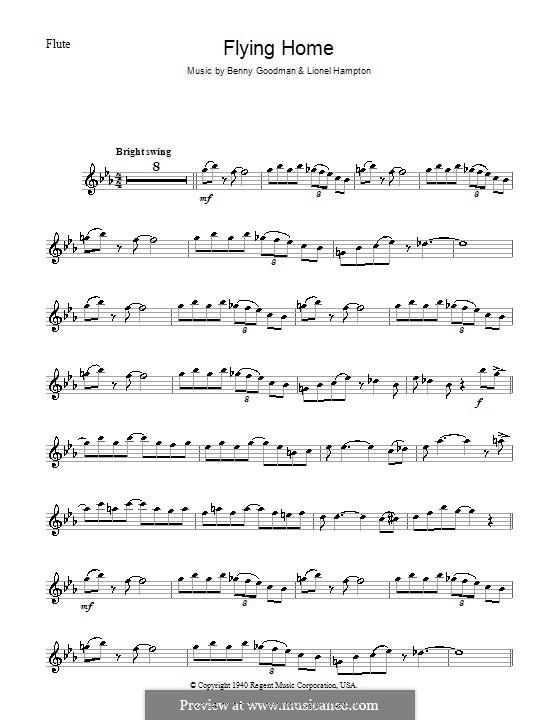 Flying Home: para flauta by Benny Goodman, Lionel Hampton