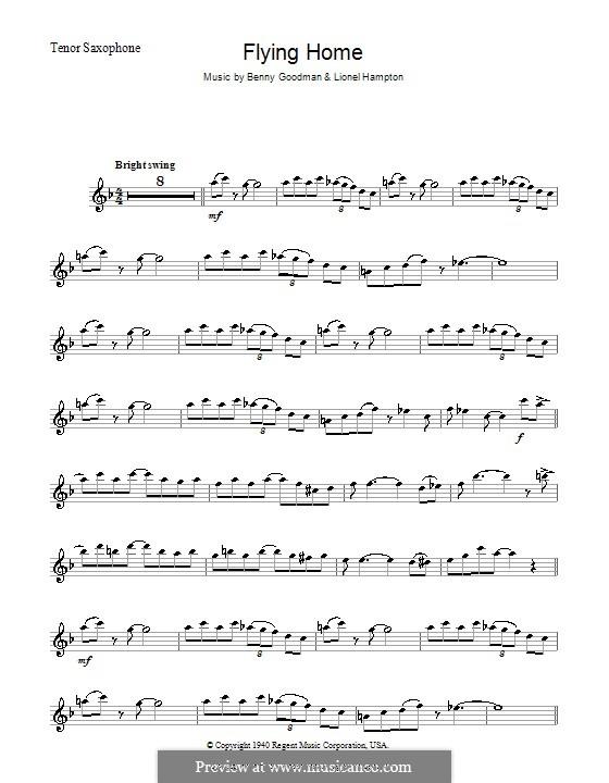 Flying Home: para saxofone tenor by Benny Goodman, Lionel Hampton