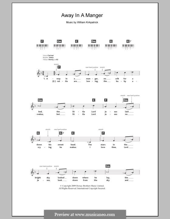 Away in a Manger: para teclado by William (James) Kirkpatrick